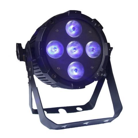 Event Lighting PARRGBWAUV5X12 LED Par Light 5 x 12w RGBWAUV - Macsound Electronics & Theatrical Supplies