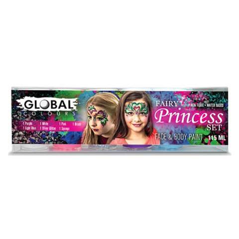 Global Colours BodyArt Face & Body Paint Set 115mL - Fairy Princess - Macsound Electronics & Theatrical Supplies