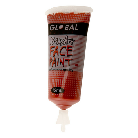 Global Colours BodyArt Face & Body Paint 15ml - Brown - Macsound Electronics & Theatrical Supplies