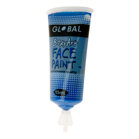 Global Colours BodyArt Face & Body Paint 15ml - Deep Blue - Macsound Electronics & Theatrical Supplies