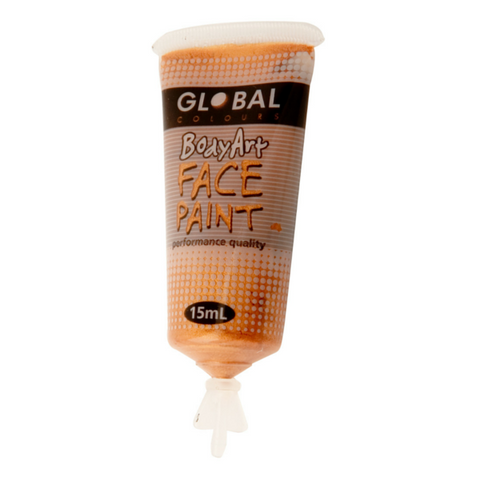 Global Colours BodyArt Face & Body Paint 15ml - Metallic Gold - Macsound Electronics & Theatrical Supplies