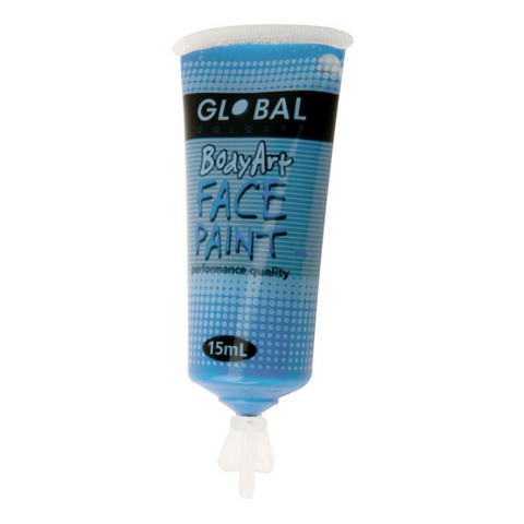 Global Colours BodyArt Face & Body Paint 15ml - Murf Blue - Macsound Electronics & Theatrical Supplies