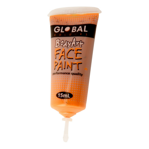 Global Colours BodyArt Face & Body Paint 15ml - Orange - Macsound Electronics & Theatrical Supplies