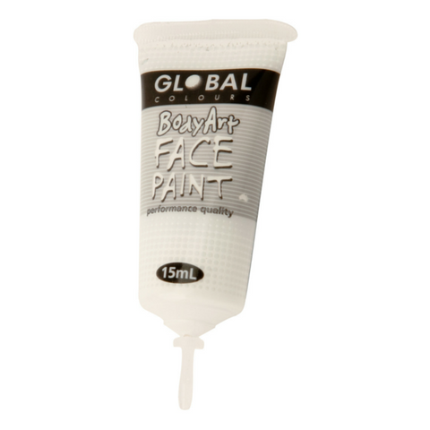 Global Colours BodyArt Face & Body Paint 15ml - Metallic Pearl - Macsound Electronics & Theatrical Supplies