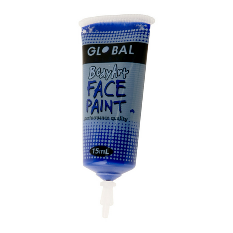 Global Colours BodyArt Face & Body Paint 15ml - Ultra Blue - Macsound Electronics & Theatrical Supplies