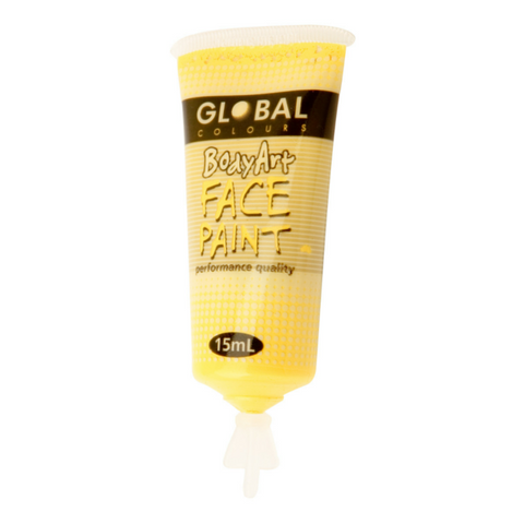 Global Colours BodyArt Face & Body Paint 15ml - Yellow - Macsound Electronics & Theatrical Supplies