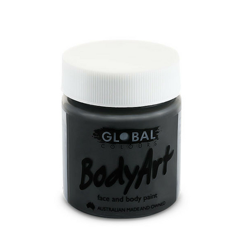 Global Colours BodyArt Face & Body Paint 45ml - Black - Macsound Electronics & Theatrical Supplies