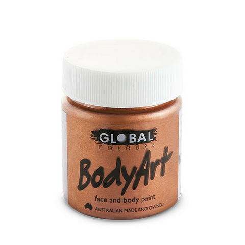 Global Colours BodyArt Face & Body Paint 45ml - Metallic Copper - Macsound Electronics & Theatrical Supplies