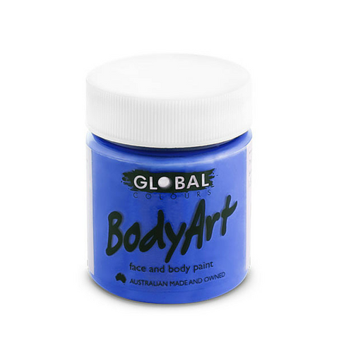 Global Colours BodyArt Face & Body Paint 45ml - Deep Blue - Macsound Electronics & Theatrical Supplies