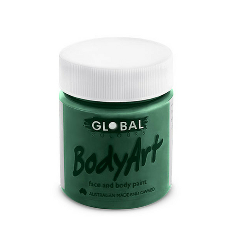 Global Colours BodyArt Face & Body Paint 45ml - Deep Green - Macsound Electronics & Theatrical Supplies
