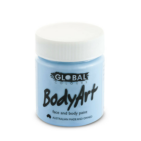 Global Colours BodyArt Face & Body Paint 45ml - Light Blue - Macsound Electronics & Theatrical Supplies