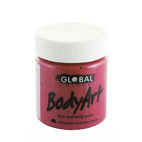 Global Colours BodyArt Face & Body Paint 45ml - Maroon - Macsound Electronics & Theatrical Supplies