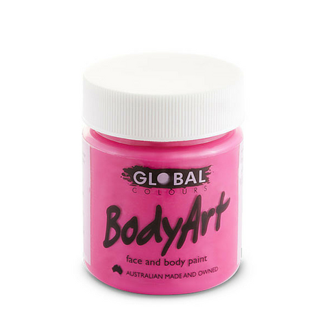 Global Colours BodyArt Face & Body Paint 45ml - Neon Pink - Macsound Electronics & Theatrical Supplies