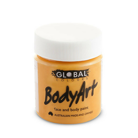 Global Colours BodyArt Face & Body Paint 45ml - Orange - Macsound Electronics & Theatrical Supplies
