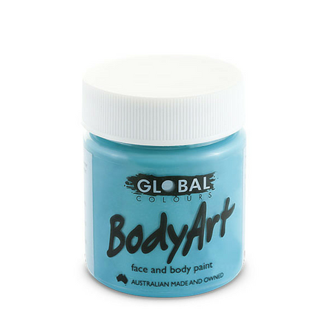 Global Colours BodyArt Face & Body Paint 45ml - Turquoise - Macsound Electronics & Theatrical Supplies