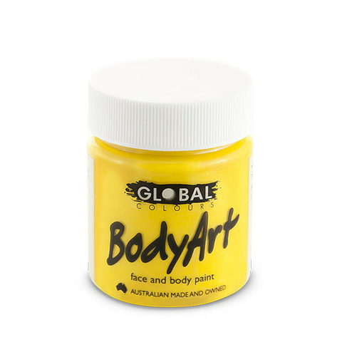 Global Colours BodyArt Face & Body Paint 45ml - Yellow - Macsound Electronics & Theatrical Supplies
