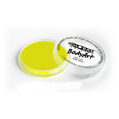 Global Colours Cake Makeup 32g - Neon Yellow - Macsound Electronics & Theatrical Supplies