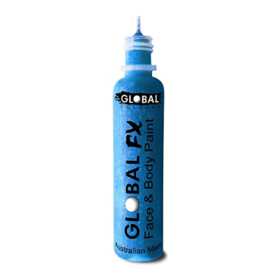 Global Colours BodyArt Global FX 32ml - Aqua Blue - Macsound Electronics & Theatrical Supplies