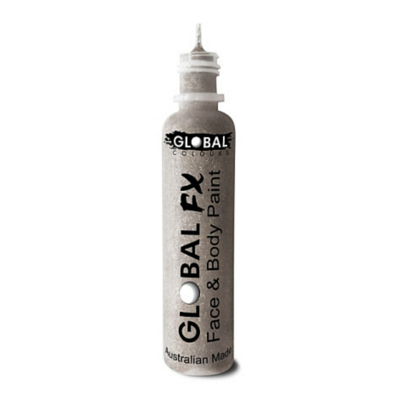 Global Colours BodyArt Global FX 32ml - Holographic Silver - Macsound Electronics & Theatrical Supplies