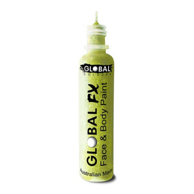 Global Colours BodyArt Global FX 32ml - Iridescent Yellow - Macsound Electronics & Theatrical Supplies