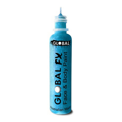 Global Colours BodyArt Global FX 32ml - Neon Blue - Macsound Electronics & Theatrical Supplies