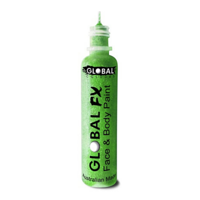 Global Colours BodyArt Global FX 32ml - Neon Green - Macsound Electronics & Theatrical Supplies