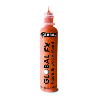 Global Colours BodyArt Global FX 32ml - Neon Orange - Macsound Electronics & Theatrical Supplies