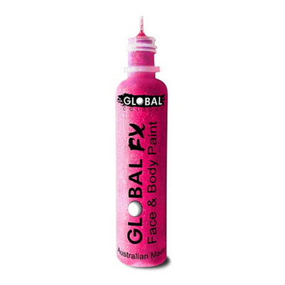 Global Colours BodyArt Global FX 32ml - Neon Pink - Macsound Electronics & Theatrical Supplies