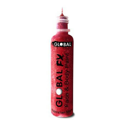 Global Colours BodyArt Global FX 32ml - Red - Macsound Electronics & Theatrical Supplies
