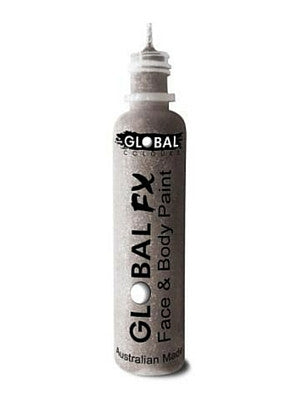 Global Colours BodyArt Global FX 32ml - Silver - Macsound Electronics & Theatrical Supplies