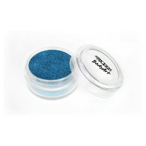 Global Colours BodyArt Cosmetic Glitter 4g - Aqua Blue - Macsound Electronics & Theatrical Supplies