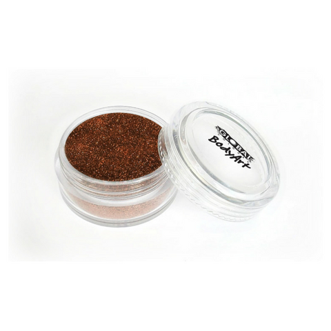 Global Colours BodyArt Cosmetic Glitter 4g - Copper - Macsound Electronics & Theatrical Supplies