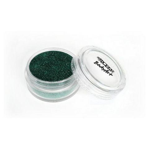 Global Colours BodyArt Cosmetic Glitter 4g - Dark Green - Macsound Electronics & Theatrical Supplies