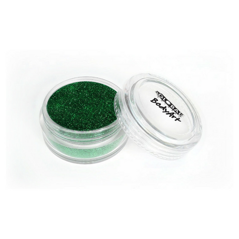 Global Colours BodyArt Cosmetic Glitter 4g - Emerald Green - Macsound Electronics & Theatrical Supplies