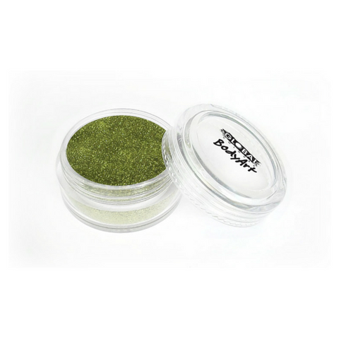 Global Colours BodyArt Cosmetic Glitter 4g - Lime Green - Macsound Electronics & Theatrical Supplies