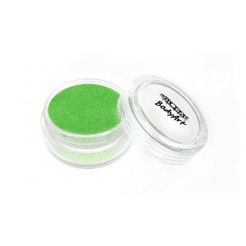 Global Colours BodyArt Cosmetic Glitter 4g - Neon Green - Macsound Electronics & Theatrical Supplies