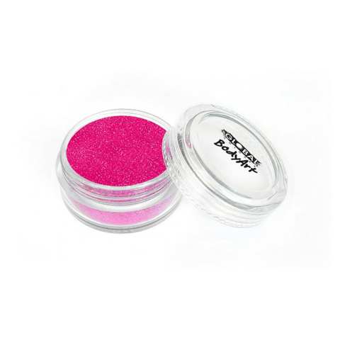 Global Colours BodyArt Cosmetic Glitter 4g - Neon Pink - Macsound Electronics & Theatrical Supplies