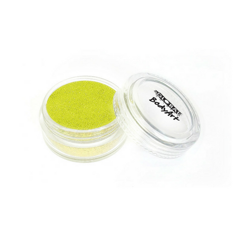 Global Colours BodyArt Cosmetic Glitter 4g - Neon Yellow - Macsound Electronics & Theatrical Supplies