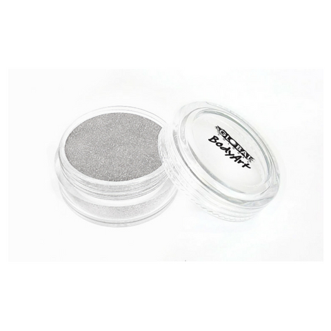 Global Colours BodyArt Cosmetic Glitter 4g - Silver - Macsound Electronics & Theatrical Supplies
