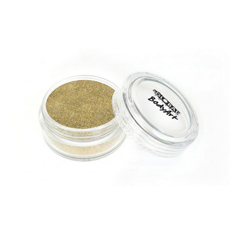 Global Colours BodyArt Cosmetic Glitter 4g - Soft Gold - Macsound Electronics & Theatrical Supplies