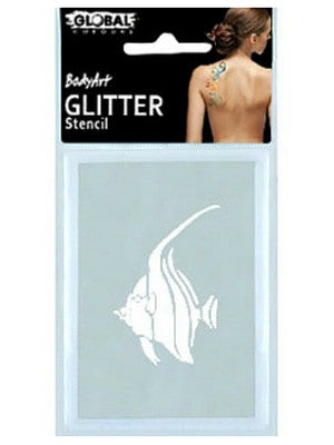 Global BodyArt Cosmetic Glitter Tattoo Stencil - Macsound Electronics & Theatrical Supplies