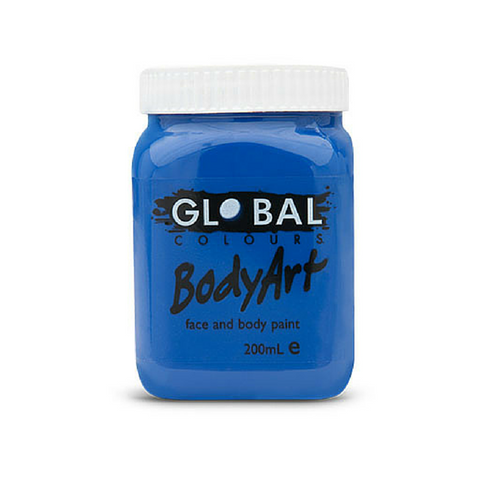 Global Colours BodyArt Face & Body Paint 200ml - Deep Blue - Macsound Electronics & Theatrical Supplies