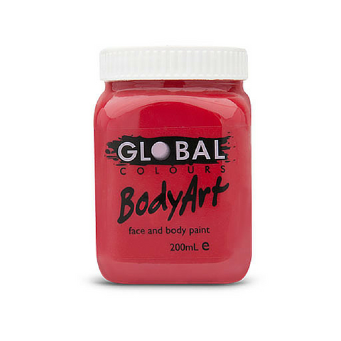 Global Colours BodyArt Face & Body Paint 200ml - Deep Red - Macsound Electronics & Theatrical Supplies