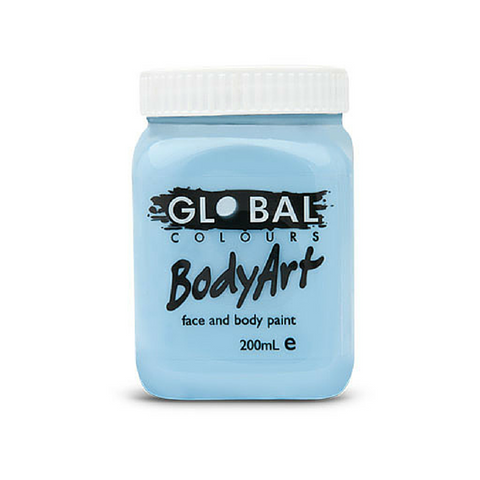 Global Colours BodyArt Face & Body Paint 200ml - Light Blue - Macsound Electronics & Theatrical Supplies