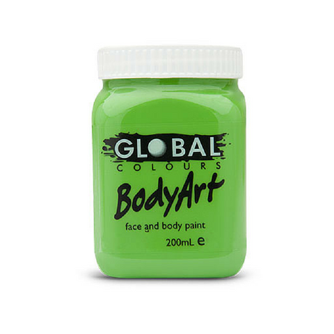 Global Colours BodyArt Face & Body Paint 200ml - Light Green - Macsound Electronics & Theatrical Supplies