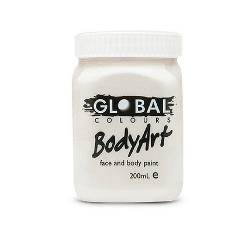 Global Colours BodyArt Face & Body Paint 200ml - Metallic Pearl - Macsound Electronics & Theatrical Supplies