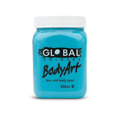 Global Colours BodyArt Face & Body Paint 200ml - Turquoise - Macsound Electronics & Theatrical Supplies