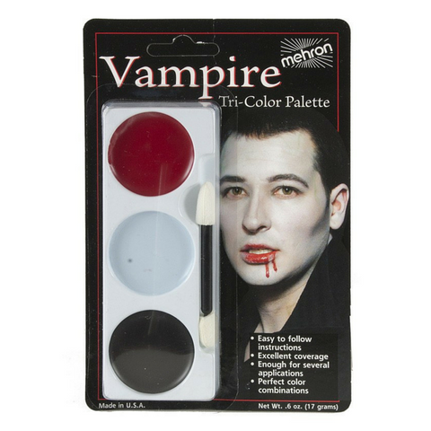 Mehron Tri-Colour Make Up Palette - Vampire