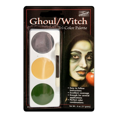 Mehron Tri-Colour Make Up Palette - Witch/Ghoul