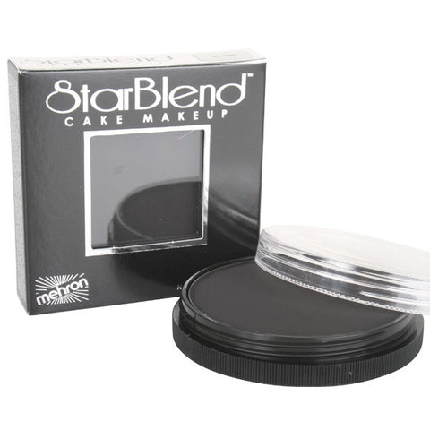 Mehron Starblend Cake Makeup - Black - Macsound Electronics & Theatrical Supplies
